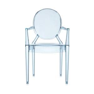 Krzesło Kartell Lou Lou Ghost, jasnoniebieskie