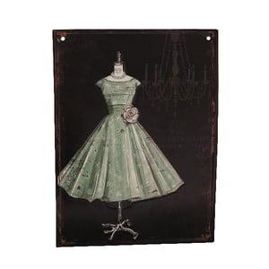 Tabliczka metalowa Antic Ball Gown