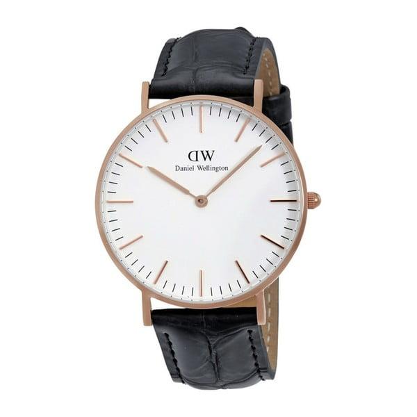 Zegarek męski z detalami w różowozłotej barwie Daniel Wellington Reading, ⌀40mm