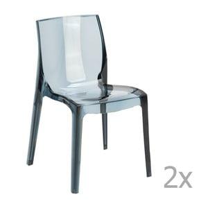 Zestaw 2 szarych krzeseł Castagnetti Ophelia