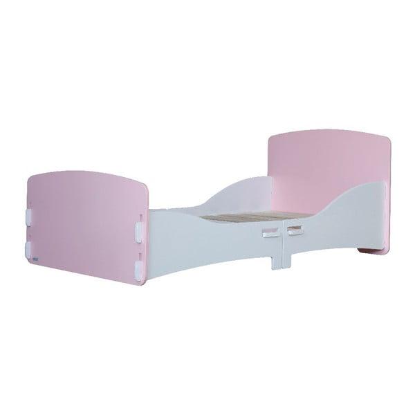 Dziecięce łóżko Pink Junior, 147x80x60 cm