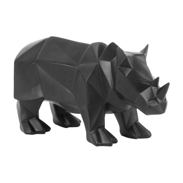 Matowa czarna figurka PT LIVING Origami Rhino