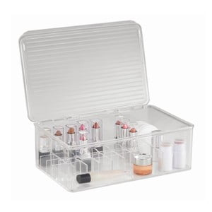 Organizer InterDesign Clarity Lipstick & Cosmetic Box, 27,5x18,5x9,5 cm