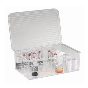 Organizer InterDesign Clarity Lipstick & Cosmetic Box, 27,5x18,5x9,5 cm