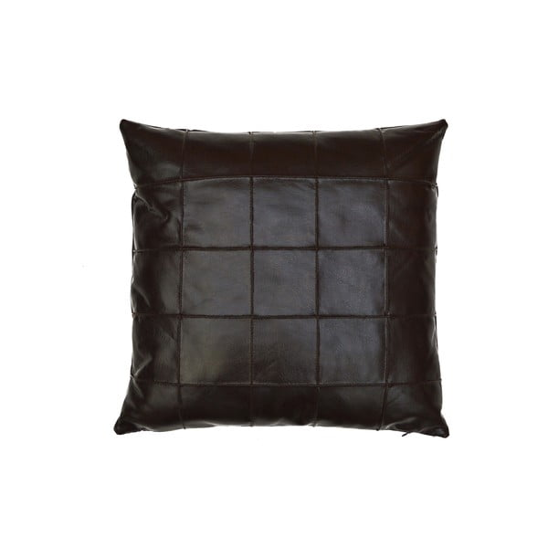 Poduszka ze skóry wegańskiej Power 10, 55x55 cm