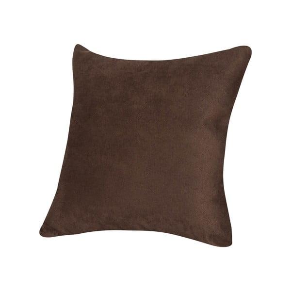 Poduszka z mikrowłókna Pillow 40x40 cm, czekoladowa