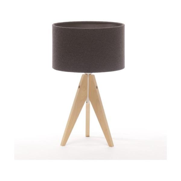 Lampa stołowa Artist Cylinder Dark Grey/Natural