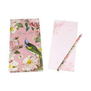 Notatnik na zakupy z ołówkiem Botanique by Portico Designs, 128str.