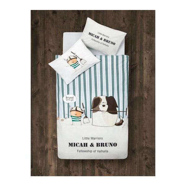 Komplet pościeli dziecięcej z prześcieradłem Micah&Bruno