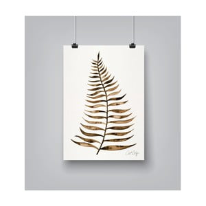 Plakat Americanflat Leaf Sepia, 30x42 cm
