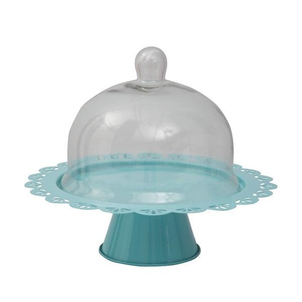Patera na tort Dolci 28 cm, niebieska