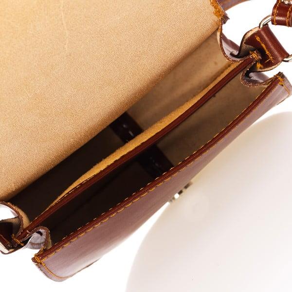 Brązowa torebka skórzana Federica Bass Kaus