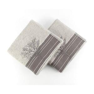Zestaw 2 szarych ręczników Infinity, 50x90 cm