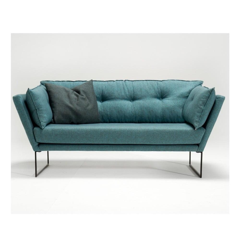 Zielononiebieska sofa 3-osobowa Relax