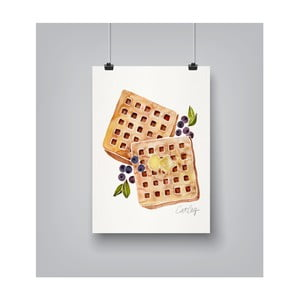 Plakat Americanflat Blueberry Breakfast Waffles, 30x42 cm