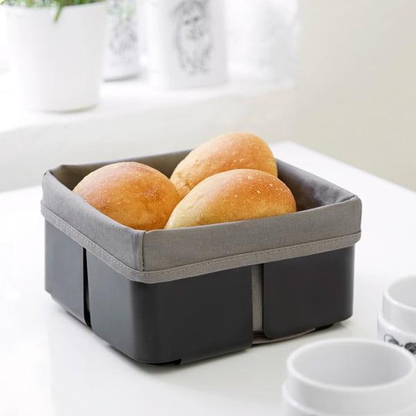 Koszyk na chleb Steel Function Roma, czarny/szary