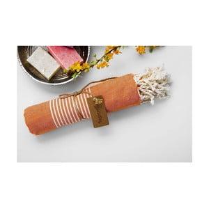 Ręcznik hamam Line Orange, 100x180 cm