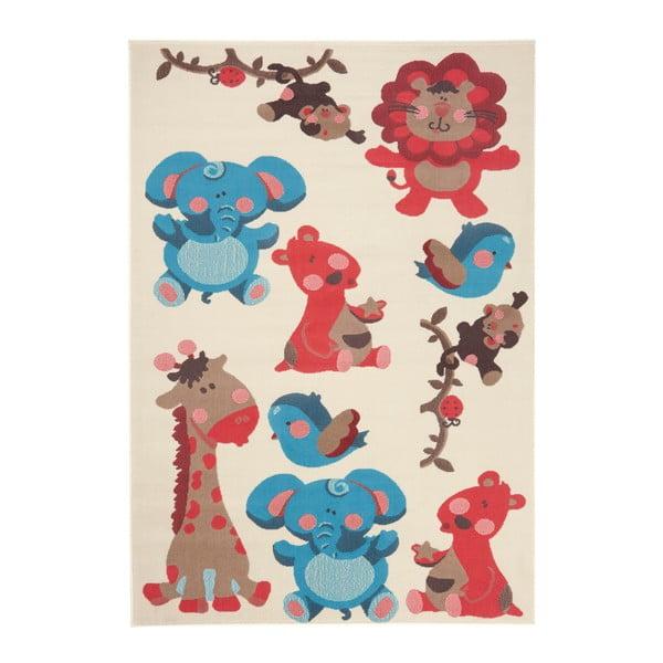Czerwono-brązowy dywan dziecięcy koberec Zala Living Animals, 140x200 cm