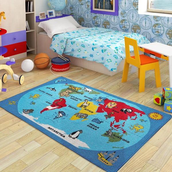 Dywan dziecięcy World, 100x150 cm