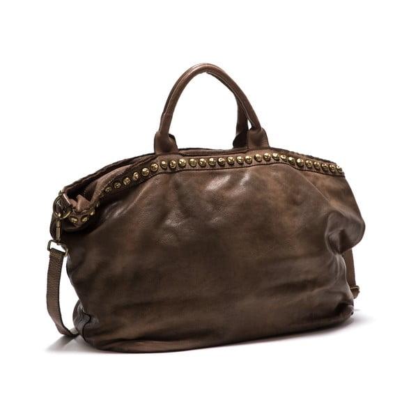 Skórzana torebka Anna Luchini 5 Fango