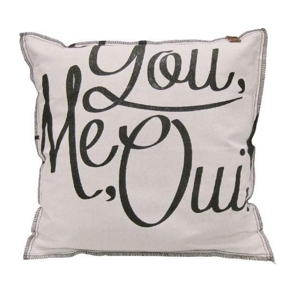 Kremowa poduszka Overseas You Me Oui, 45x45 cm