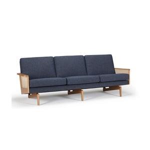 Niebieska sofa trzyosobowa Kragelund Egsmark