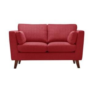 Czerwona sofa dwuosobowa Jalouse Maison Elisa