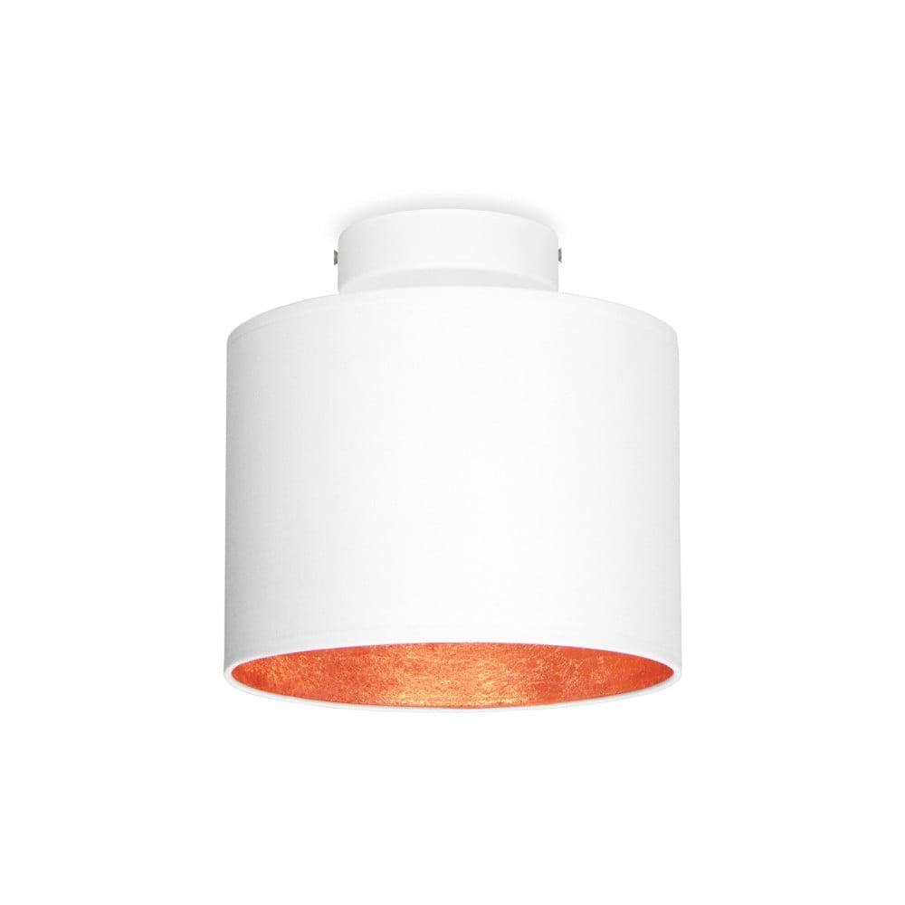 Biała lampa sufitowa z detalem w miedzianym kolorze Sotto Luce MIKA Elementary XS CP