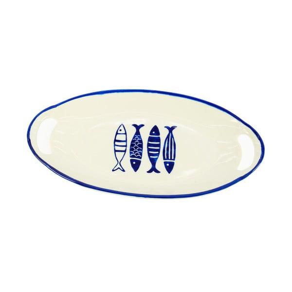 Talerz ceramiczny InArt Fish, 40x21 cm