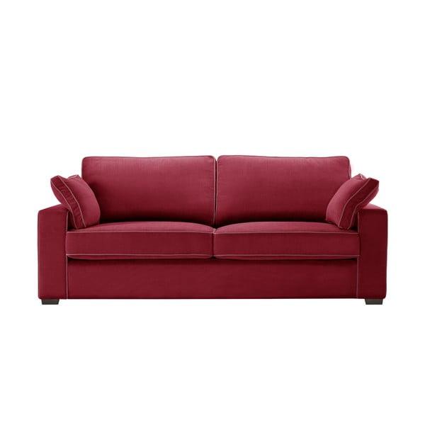 Sofa trzyosobowa Jalouse Maison Serena, czerwona