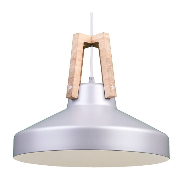 Srebrna lampa wisząca Loft You Work, 44 cm