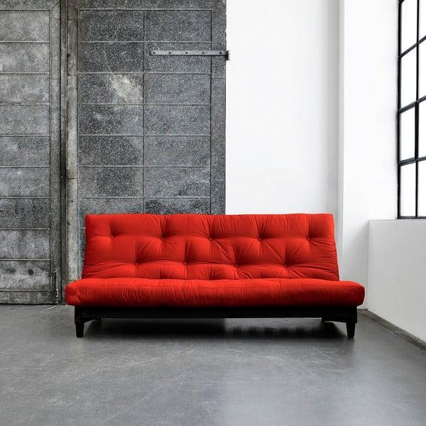Sofa rozkładana Karup Fresh Wenge/Red