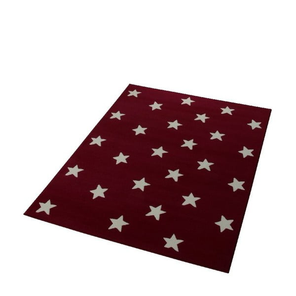 Burgudnowy dywan dziecięcy dywan Hanse Home Stars, 140x200 cm