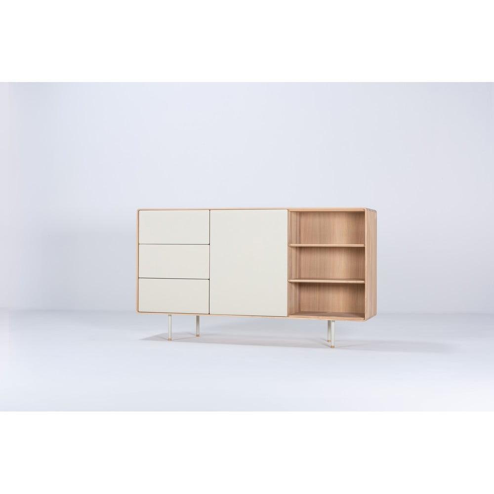 Biała szafka z drewna dębowego Gazzda Mushroom, szer. 176,4 cm