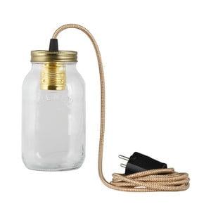 Lampa JamJar Lights, brązowo-kremowy okrągły kabel