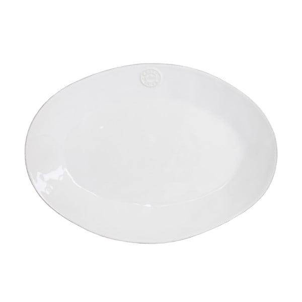 Biała ceramiczna owalna taca Ego Dekor Nova,40 cm