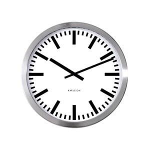 Szary zegar ścienny Present Time Station, duży