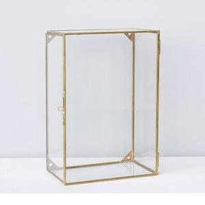 Szafeczka wisząca Glass Brass