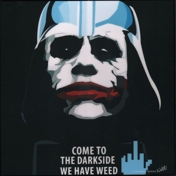 """Obraz """"Darth Vader - come to the dark side we have weed"""""""