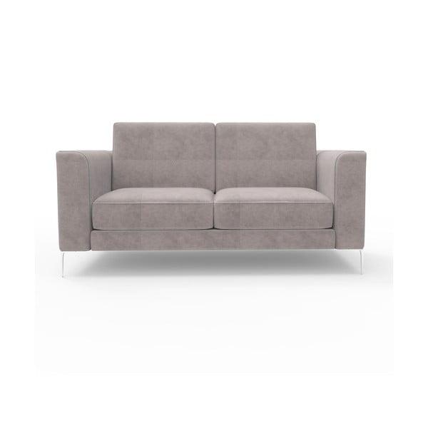 Sofa dwuosobowa Miura Munich, pokrycie ciemnoszare, zamszowe