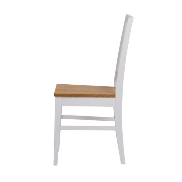 Zestaw 2 białych krzeseł z drewna dębowego Folke Filippa