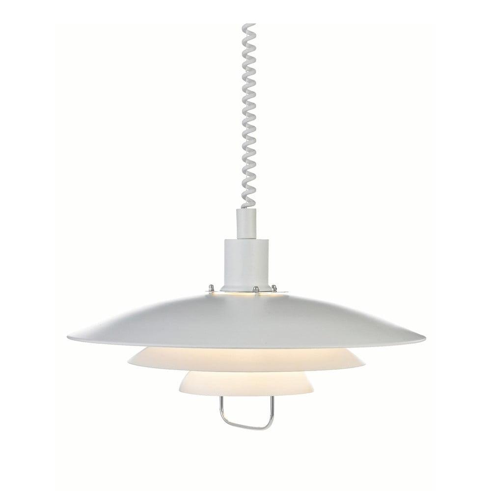 Biała lampa wisząca Markslöjd Kikrenes, ø 48 cm