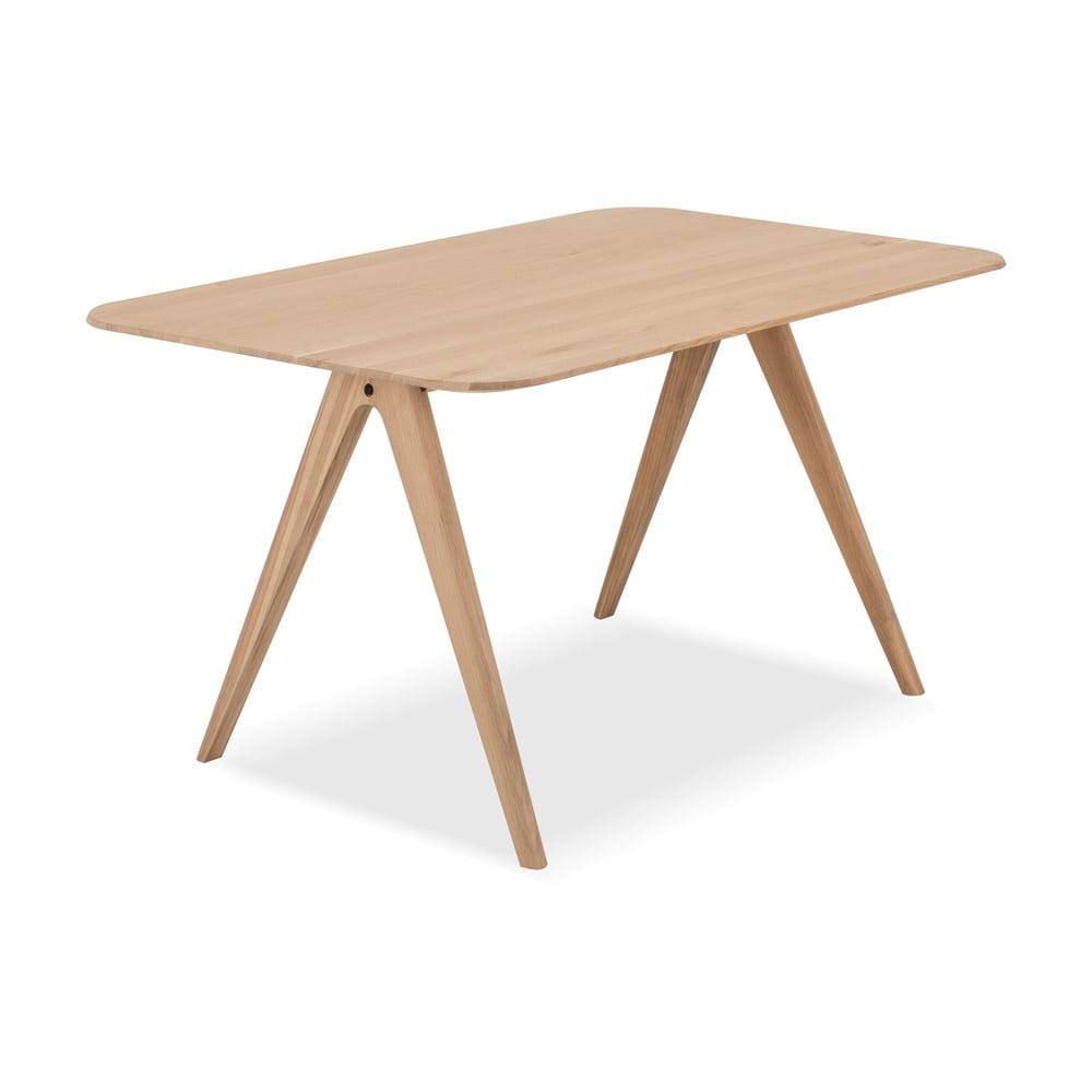 Stół z drewna dębowego Gazzda Ava, 140 x 90 cm