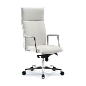 Krzesło biurowe na kółkach Mithos Zago, białe
