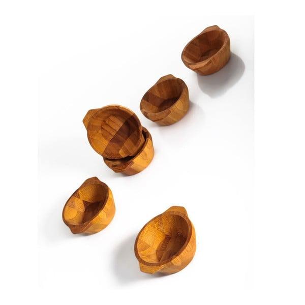 Zestaw 6 bambusowych miseczek Basil