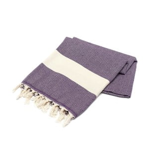 Ręcznik hammam American Stripes Purple, 100x180 cm