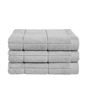 Zestaw 3 szarych ręczników z organicznej bawełny Seahorse,60x110cm