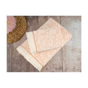 Zestaw 2 łososiowych ręczników Irya Home Royal, 50x90 cm