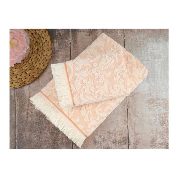 Łososiowy ręcznik Irya Home Royal, 90x150 cm