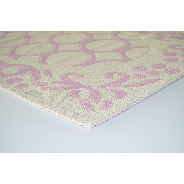 Liliowy wytrzymały dywan Celine, 80x200 cm